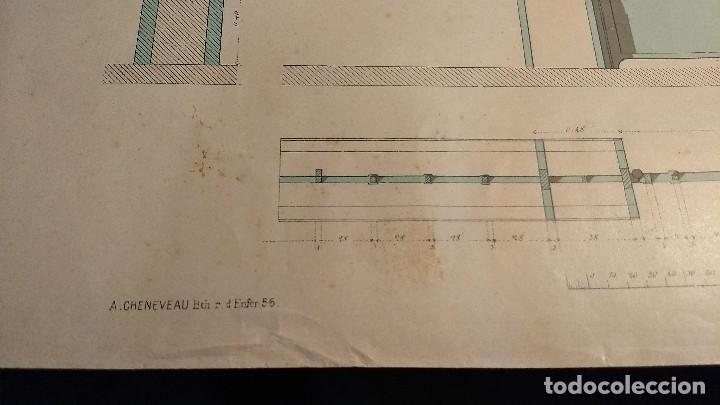 Arte: Dessins Darchitecture. Doce láminas litográficas de diversos tipos de edificios. Monrocq Fr, èdit. - Foto 62 - 213464950