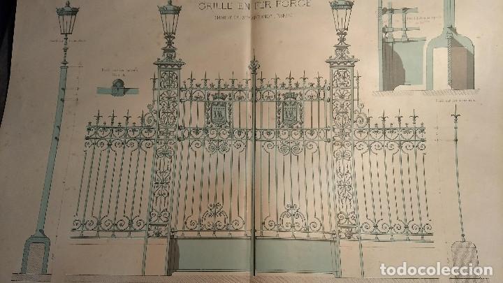 Arte: Dessins Darchitecture. Doce láminas litográficas de diversos tipos de edificios. Monrocq Fr, èdit. - Foto 26 - 213464950