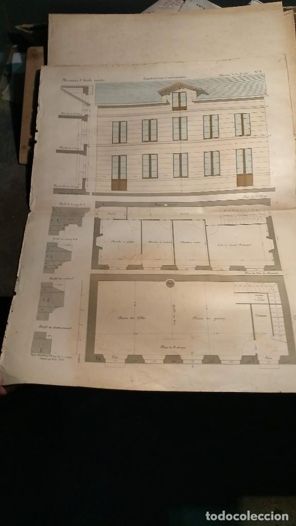 Arte: Dessins Darchitecture. Doce láminas litográficas de diversos tipos de edificios. Monrocq Fr, èdit. - Foto 63 - 213464950