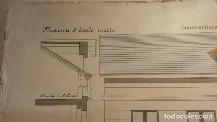 Arte: Dessins Darchitecture. Doce láminas litográficas de diversos tipos de edificios. Monrocq Fr, èdit. - Foto 64 - 213464950