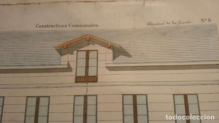 Arte: Dessins Darchitecture. Doce láminas litográficas de diversos tipos de edificios. Monrocq Fr, èdit. - Foto 65 - 213464950