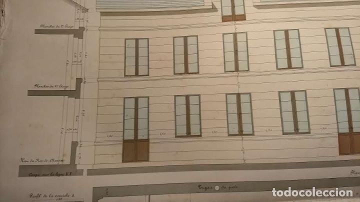 Arte: Dessins Darchitecture. Doce láminas litográficas de diversos tipos de edificios. Monrocq Fr, èdit. - Foto 66 - 213464950