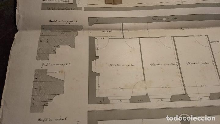 Arte: Dessins Darchitecture. Doce láminas litográficas de diversos tipos de edificios. Monrocq Fr, èdit. - Foto 67 - 213464950