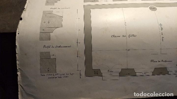 Arte: Dessins Darchitecture. Doce láminas litográficas de diversos tipos de edificios. Monrocq Fr, èdit. - Foto 68 - 213464950