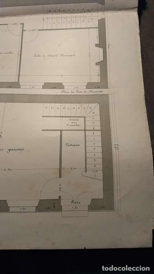 Arte: Dessins Darchitecture. Doce láminas litográficas de diversos tipos de edificios. Monrocq Fr, èdit. - Foto 69 - 213464950
