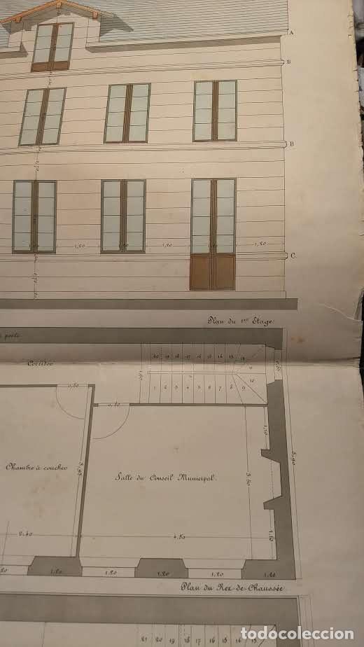 Arte: Dessins Darchitecture. Doce láminas litográficas de diversos tipos de edificios. Monrocq Fr, èdit. - Foto 70 - 213464950