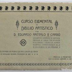 Arte: CURSO ELEMENTAL DE DIBUJO ARTÍSTICO - EDUARDO ARÉVALO Y CARBÓ - 19 LÁMINAS - VALENCIA 1909?. Lote 214319356