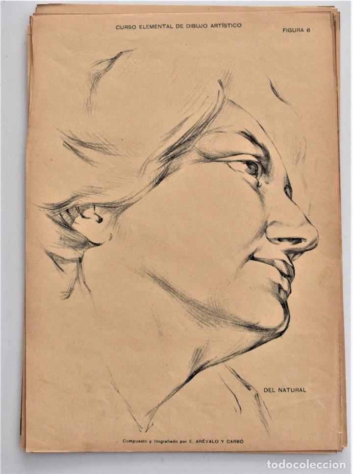 Arte: CURSO ELEMENTAL DE DIBUJO ARTÍSTICO - EDUARDO ARÉVALO Y CARBÓ - 19 LÁMINAS - VALENCIA 1909? - Foto 3 - 214319356