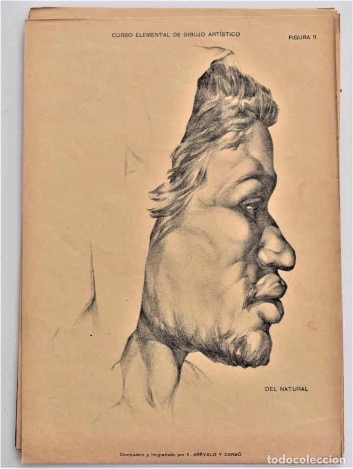 Arte: CURSO ELEMENTAL DE DIBUJO ARTÍSTICO - EDUARDO ARÉVALO Y CARBÓ - 19 LÁMINAS - VALENCIA 1909? - Foto 5 - 214319356