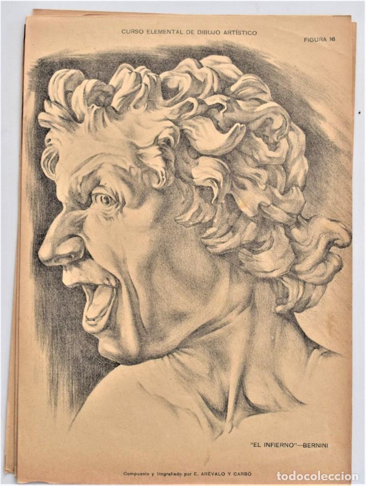 Arte: CURSO ELEMENTAL DE DIBUJO ARTÍSTICO - EDUARDO ARÉVALO Y CARBÓ - 19 LÁMINAS - VALENCIA 1909? - Foto 6 - 214319356