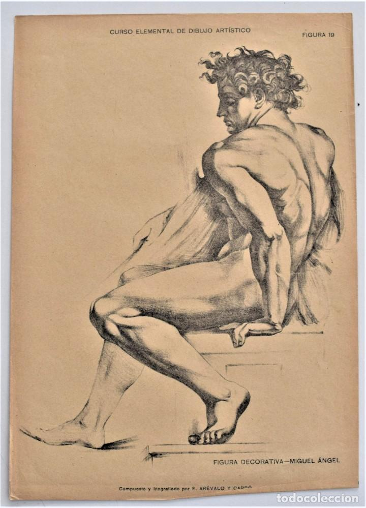 Arte: CURSO ELEMENTAL DE DIBUJO ARTÍSTICO - EDUARDO ARÉVALO Y CARBÓ - 19 LÁMINAS - VALENCIA 1909? - Foto 7 - 214319356