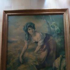Art: ANTIGUA LAMINA DE CAMPESINA, DE LA OBRA DE FRANCISCO RIBERA AÑOS 60. VER DESCRIPCIÓN. Lote 214373433