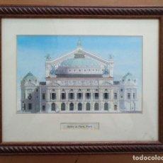 Arte: LAMINA ENMARCADA CON CRISTAL OPERA DE PARIS. Lote 214526571