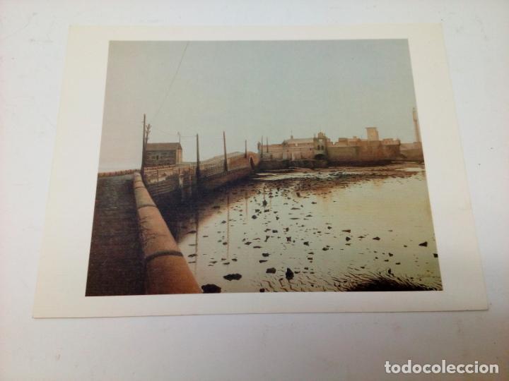 Arte: Bella lamina Jesus Tejedor Vicente del cuadro La Caleta Cadid - Foto 2 - 215391227