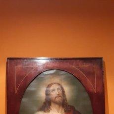 Arte: ANTIGUO CUADRO CON LAMINA ANTIGUA RELIGIOSA. Lote 216522431