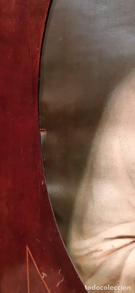 Arte: Antiguo cuadro con lamina antigua religiosa - Foto 4 - 216522431