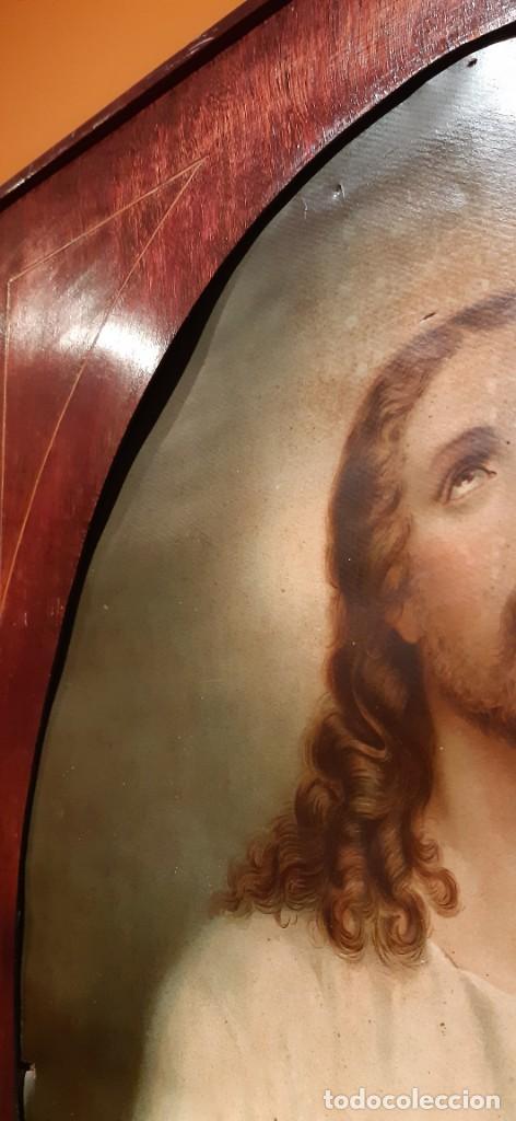 Arte: Antiguo cuadro con lamina antigua religiosa - Foto 8 - 216522431