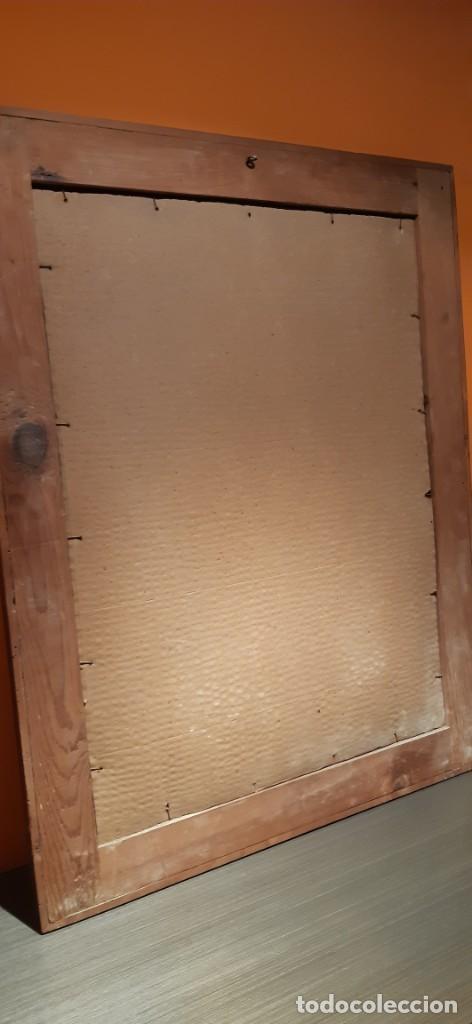 Arte: Antiguo cuadro con lamina antigua religiosa - Foto 9 - 216522431