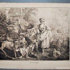 Arte: LA LAITIÈRE. JEAN-BAPTISTE HUET (1745-1811). Lote 217005782