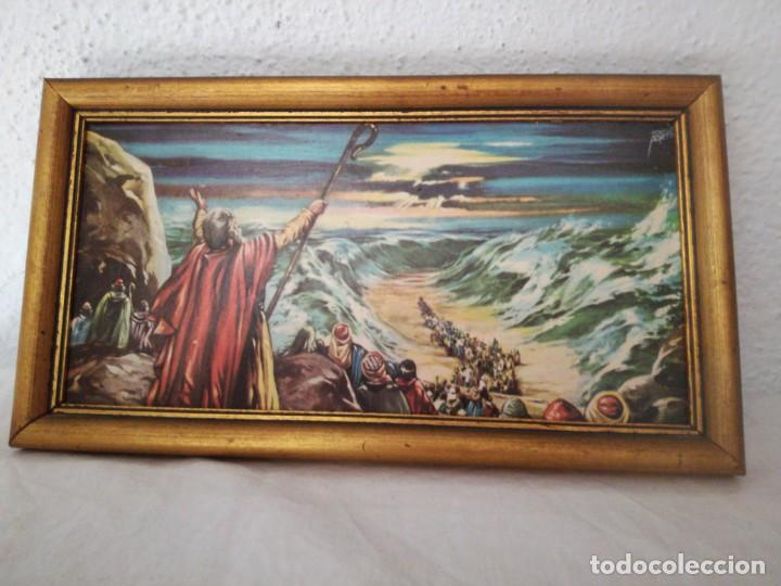 Arte: Pequeña lámina enmarcada Moisés abriendo las aguas - Foto 2 - 217617715