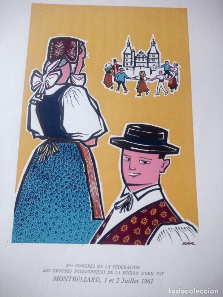 Arte: 2 eme congres de la fédération des groupes de la región nord est montbeliard 1961 - Foto 2 - 218149398