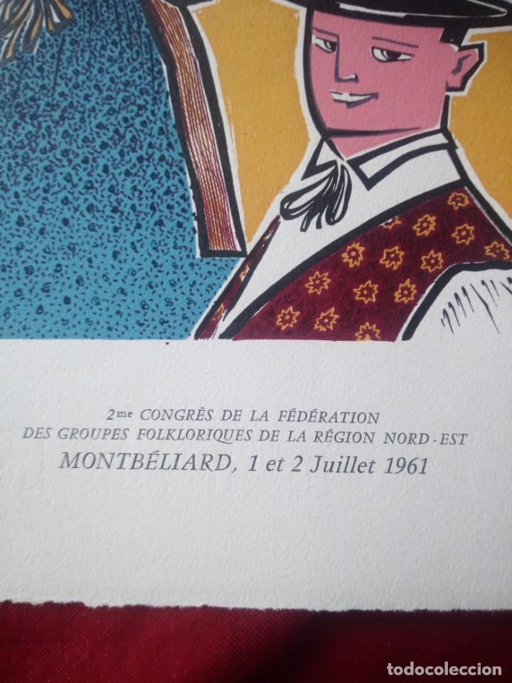 Arte: 2 eme congres de la fédération des groupes de la región nord est montbeliard 1961 - Foto 3 - 218149398