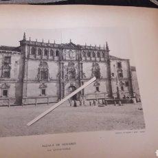 Arte: ALCALÁ DE HENARES, LA UNIVERSIDAD, SIGLO XIX, FOTOTIPIA DE HAUSER Y MENET SIGLO XIX. Lote 218287272