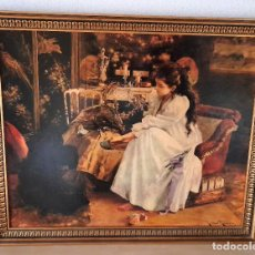 Arte: LÁMINA SOBRE MADERA ENMARCADA DE SOIRËE 1894 ROMÁN RIBERA CIRERA 85 CM X 70CM. Lote 218288017