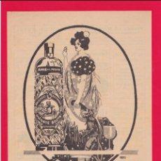 Arte: ANTIGUA LÁMINA/RECORTE PUBLICIDAD ANIS DEL MONO - PEGADA EN CARTULINA ROJA. Lote 218475836