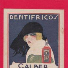 Art: ANTIGUA LÁMINA/RECORTE PUBLICIDAD CALBER - SAN SEBASTIAN - PEGADA EN CARTULINA ROJA. Lote 218476283