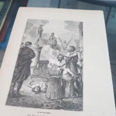 Arte: ANTIGUA LAMINA GRABADO RELIGIOSA SANTORAL SAN RUFINO Y MARTIRES 16 NOVIEMBRE. Lote 218594952