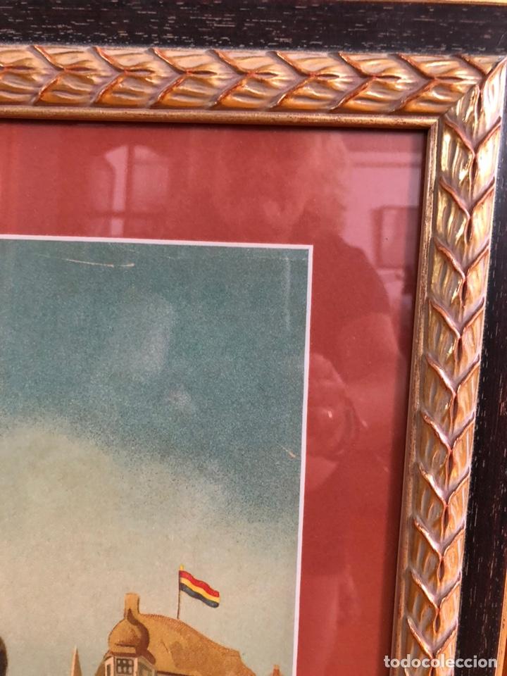 Arte: Bonita lámina años 40 con marco antiguo . 73'5 x 43'5 cm - Foto 3 - 218607666