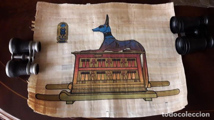 PAREJA DE ANTIGUOS PAPIROS EGIPCIOS.COLORES SUPERDECORATIVOS. (Arte - Láminas Antiguas)
