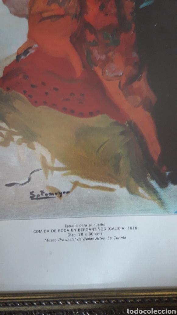 Arte: COMIDA DE BODA EN BERGANTIÑOS, Galicia, lámina enmarcada - Foto 2 - 221554532