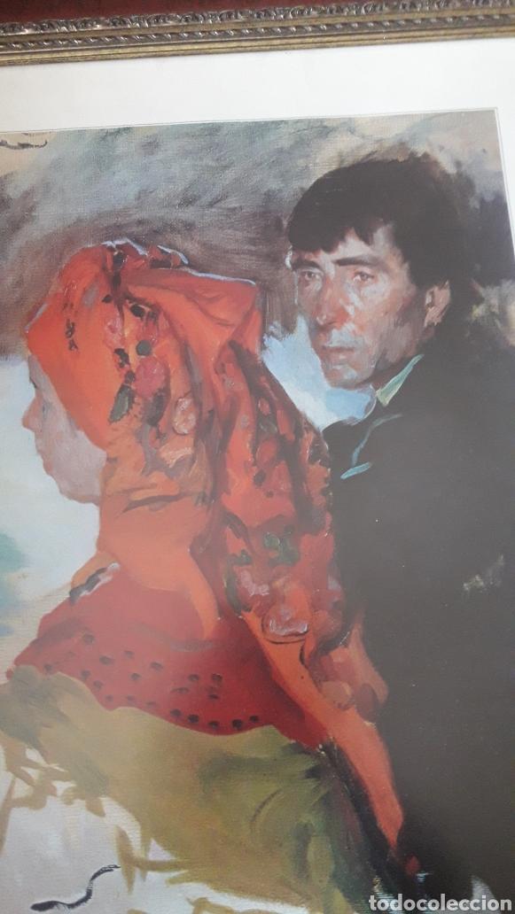 Arte: COMIDA DE BODA EN BERGANTIÑOS, Galicia, lámina enmarcada - Foto 3 - 221554532