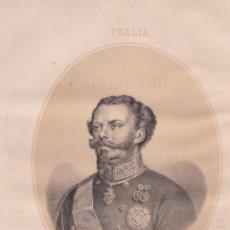 Art: RETRATO DE VICTOR MANUEL I (REY DE ITALIA) – LIT. DE N.GONZALEZ. Lote 221742940