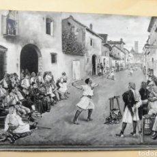 Arte: LAMINA JOSÉ BRU JOC DE PILOTA 1881. Lote 222247785