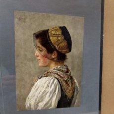Arte: WILHEIM HAFEMANN, COSTUMBRISTA, PLANCHA A COLOR Nº 1 DE DEUTSCHE MALEREI 1909. Lote 222479395