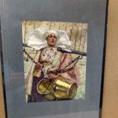 Arte: HANS VON BARTEIS, COSTUMBRISTA, PLANCHA A COLOR Nº 8 DE DEUTSCHE MALEREI 1909. Lote 222479560