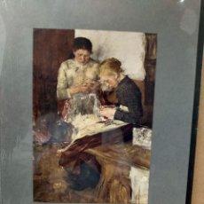 Arte: WILHEIM LEIBL, COSTUMBRISTA, PLANCHA A COLOR Nº 6 DE DEUTSCHE MALEREI 1909. Lote 222479757
