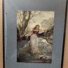 Arte: VIKTOR MULLER, COSTUMBRISTA, PLANCHA A COLOR Nº 86 DE DEUTSCHE MALEREI 1909. Lote 222481973