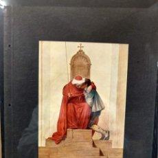 Arte: MORITZ LUDWIG VON SCHWIND, COSTUMBRISTA, PLANCHA A COLOR Nº 75 DE DEUTSCHE MALEREI 1909. Lote 222482397