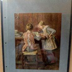 Arte: FRITZ VON UHDE , COSTUMBRISTA, PLANCHA A COLOR Nº 43 DE DEUTSCHE MALEREI 1909. Lote 222485715