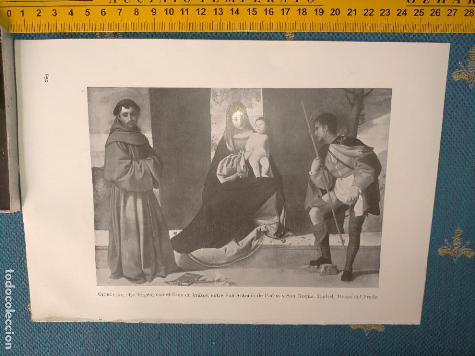AÑO 1935 - VIRGEN NIÑO JESUS SAN ANTONIO DE PADUA Y SAN ROQUE (Arte - Láminas Antiguas)