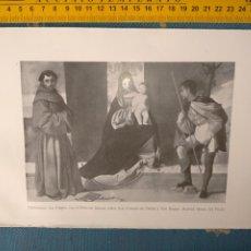Arte: AÑO 1935 - VIRGEN NIÑO JESUS SAN ANTONIO DE PADUA Y SAN ROQUE. Lote 222893736