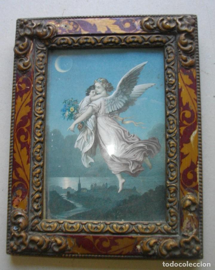 ANTIGUA LAMINA ENMARCADA CON CRISTAL Y MARCO INCLUIDO ( AÑOS 30) 24X18 (Arte - Láminas Antiguas)