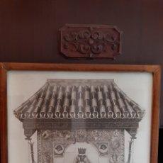 Arte: LAMINA ANTIGUA DE LA VIRGEN DE LOS REYES,ENMARCADA, 60 X 45 CM. Lote 223572133