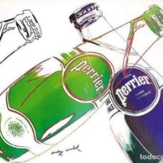 Arte: PÓSTER PERRIER ANDY WARHOL - 1983 - FRANCIA. Lote 224089350