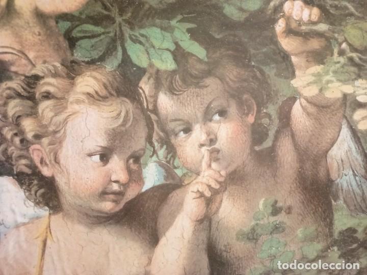 Arte: Cuadro de angelotes con bonito marco - Foto 2 - 224378053