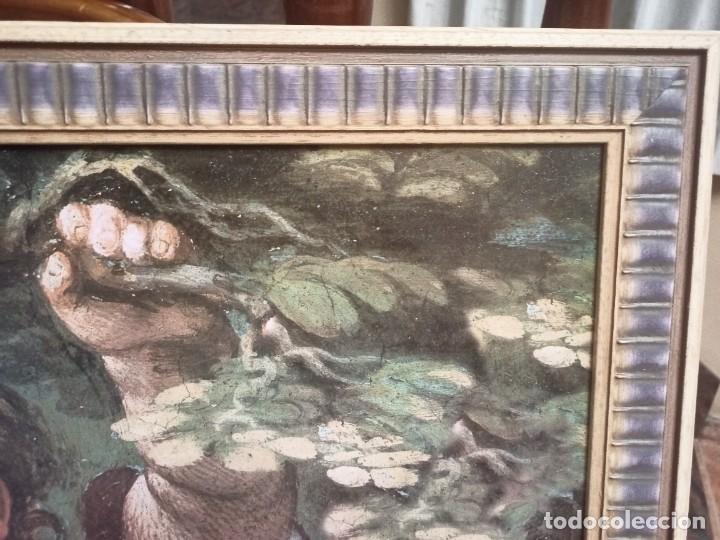 Arte: Cuadro de angelotes con bonito marco - Foto 3 - 224378053